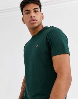 Levi's original small batwing logo t-shirt in pine grove-Green