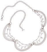 Natasha Accessories Long Chain & Simulated Pearls Necklace