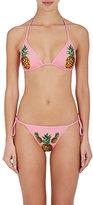 Dolce & Gabbana Women's Pineapple-Print String Bikini Set