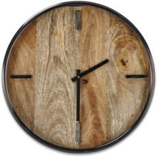 Nkuku Alomi Mango Wood Clock Small
