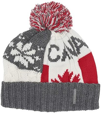 BULA Canada Flag Beanie (Heathered Grey) Beanies