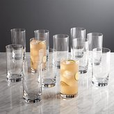 Crate & Barrel Set of 12 Peak Highball Glasses