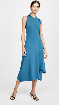 Victoria Beckham Twist Back Midi Dress
