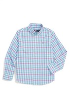 Vineyard Vines Toddler Boy's Crystal Reef Check Whale Shirt