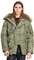 Denim & Supply Ralph Lauren Dnf Down Snorkel Jacket, Tent Green