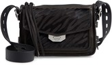 Rag & Bone Small Field Zebra Stripe Genuine Calf Hair Messenger Bag