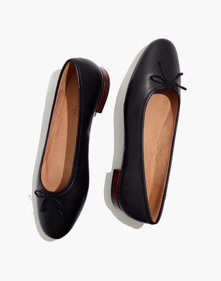 Madewell The Adelle Ballet Flat in Leather