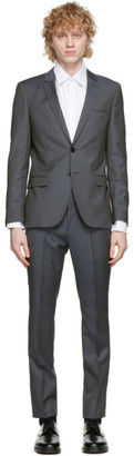 HUGO BOSS Grey Arti and Hesten Extra Slim Fit Wool Suit