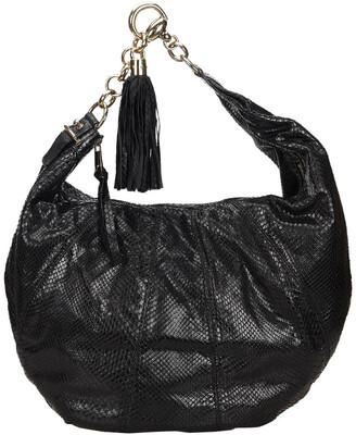 Gucci Black Python Leather Tassel Sienna Hobo