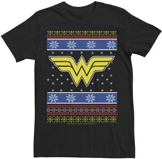 Dc Comics Men's Wonder Woman Knit Style Logo Tee