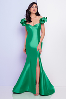 Terani Couture 1721E4128 Off Shoulder Ribbon Sweetheart Evening Gown