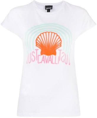 Just Cavalli shell print T-shirt