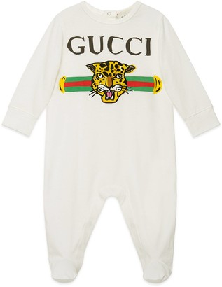 Gucci Baby sleepsuit with logo