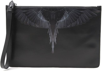 Marcelo Burlon County of Milan Wings Printed Clutch Bag