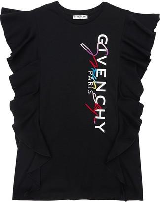 Givenchy Ruffled Cotton Interlock Dress
