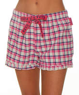 U.S. Polo Assn. Women's Sleep Bottoms light - Light Gray Plaid Lounge Shorts - Women