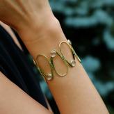 """Joan Hornig Matisse"""" White Topaz Cuff Bracelet"""