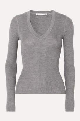 Alexander Wang Merino Wool Sweater - Light gray