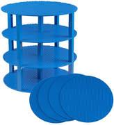 Blue 34-Piece 12'' Circle Stackable Base Plate Set