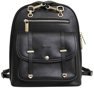 Belle & Bloom 5Th Ave Backpack Black Zip Around Back Pack