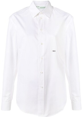 Off-White embroidered logo shirt