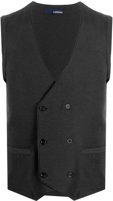 Lardini Double-Breasted Knit Vest