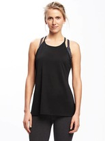 Old Navy Semi-Fitted Go-Dry Cool Racerback Tank for Women