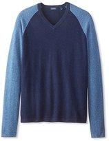 Thirty Five Kent Men's Cashmere Color-Block V-Neck Sweater