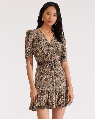 Veronica Beard Ried Python-Print Minidress