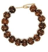 Vanda Jacintho - Studded Bead Choker Necklace - Womens - Brown