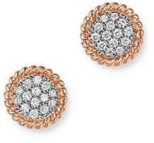 Bloomingdale's Diamond Disc Earrings in 14K Rose Gold, 0.25 ct. t.w. - 100% Exclusive