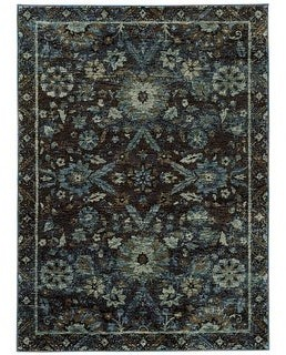StyleHaven Adalynn Floral Ikat Traditional Area Rug