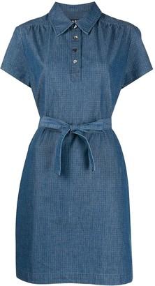 A.P.C. Tie-Waist Denim Dress