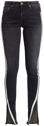 Rag & Bone Cate Mid-Rise Racing Stripe Skinny Jeans