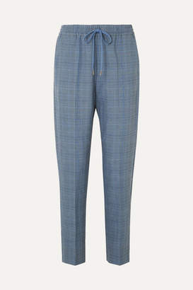Munthe MUNTHE - Diablo Checked Woven Tapered Pants - Blue