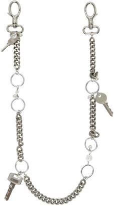 Marine Serre Silver Pearl Chain Bag Strap