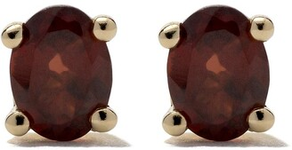 Wouters & Hendrix Gold 18kt yellow gold Garnet studs