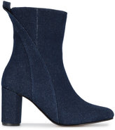 Ganni Joan mid-calf denim boots