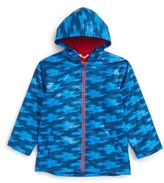 Hatley Toddler Boy's Rocketships Splash Hooded Raincoat