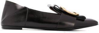 See by Chloe Buckle-Embellished Pointed Loafers