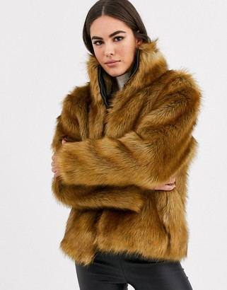 Vila faux fur short jacket