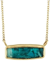 Melissa Joy Manning Gem Chrysocolla Necklace - Yellow Gold