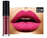 Matte Lipstick Lip Gloss, BOYON Waterproof Long Lasting Liquid Womens Cosmetic Makeup
