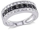 Concerto .75 CT Black and White Diamond TW 14k White Gold Fashion Ring