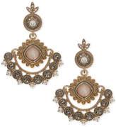 Marchesa Gold-Tone Multi-Stone Drop Earrings