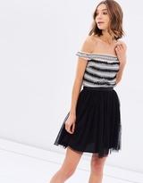 Miss Selfridge Tulle Bardot Prom Dress