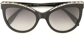 Alexander McQueen Eyewear Oversized Cat Eye Sunglasses