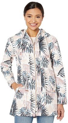 Tribal High-Low Coat w/ Hood (White) Women's Clothing