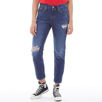 Levi's Womens 501 Taper Fit Jeans Bolt Blue