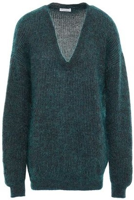 Brunello Cucinelli Metallic Brushed Ribbed-knit Sweater